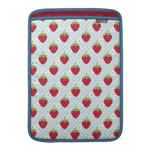 Blue Strawberry Macbook Air Sleeve 13 / 11 Inch