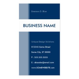 blue streamline business card