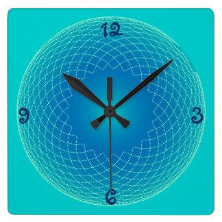 blue string pearls wall clocks