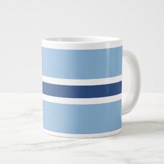 Blue Stripe 20 Oz Large Ceramic Coffee Mug Jumbo Mug