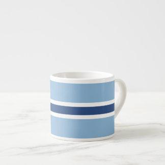Blue Stripe 6 Oz Ceramic Espresso Cup