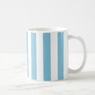 Blue Stripe Basic White Mug