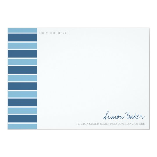 Blue Stripe Correspondence Cards