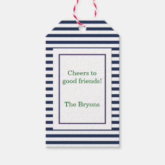Blue Stripe Custom Wine Tag
