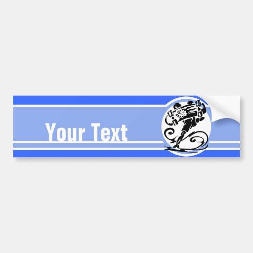 Blue Stripe; Skater Bumper Stickers