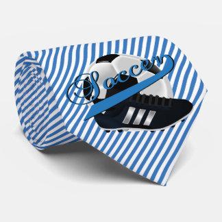 Blue Stripe Soccer Player Tie