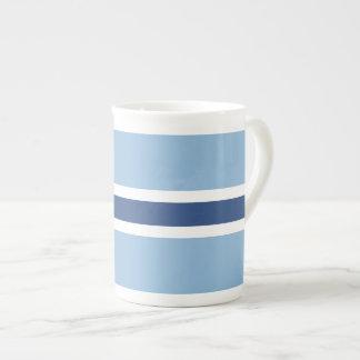 Blue Stripe Tea Cup Bone China Mug