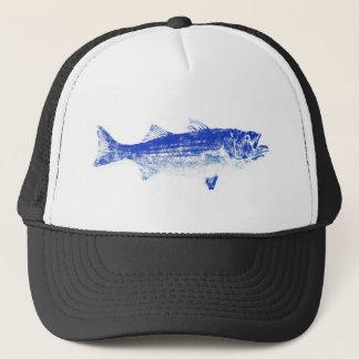 blue striped bass trucker hat