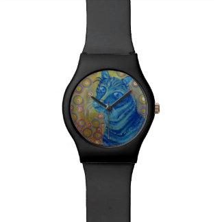 blue striped cat watch