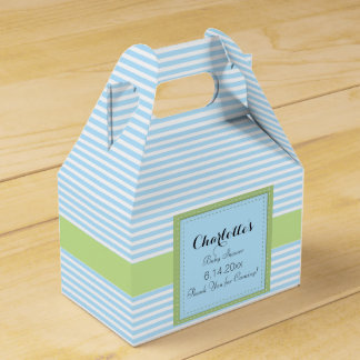 Blue Striped Favour Box