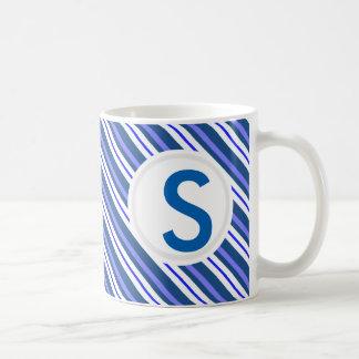 Blue Striped II Classic White Coffee Mug