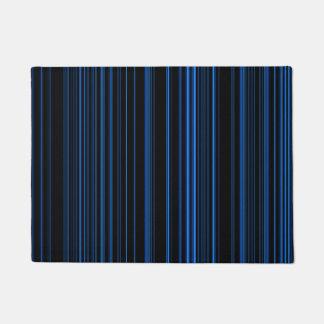 Blue Striped Pattern Doormat