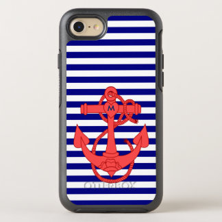 Blue striped pattern OtterBox symmetry iPhone 7 case