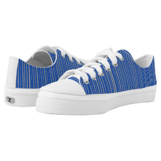Blue Striped Pattern Printed Shoes