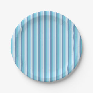 Blue Striped Plates
