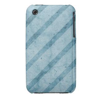 Blue Striped Subtle Grunge Wallpaper Case-Mate iPhone 3 Case