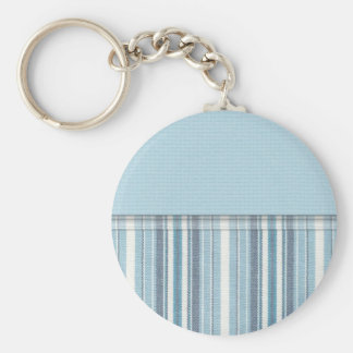 Blue Stripes (2) Basic Round Button Key Ring
