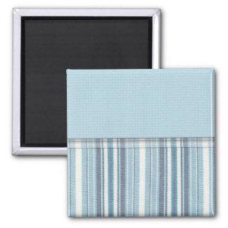 Blue Stripes (2) Square Magnet