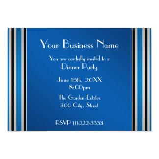 "Blue stripes Business invitation 5"" X 7"" Invitation Card"