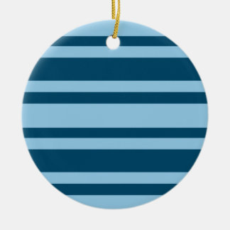Blue Stripes custom ornament