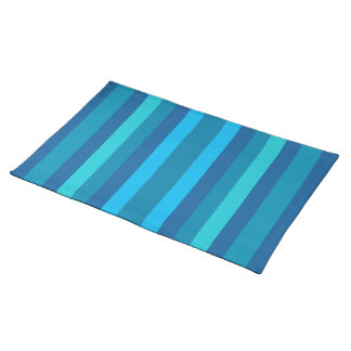 Blue Stripes custom placemat