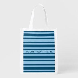 Blue Stripes custom reusable bag