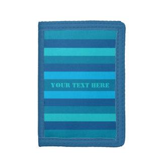 Blue Stripes custom wallets