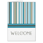 Blue Stripes Employee Welcome to the Team Card