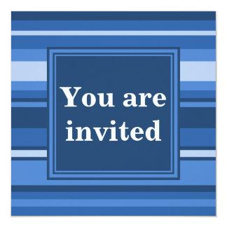 Blue stripes invitation
