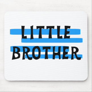 Blue Stripes Little Brother Mouse Mat