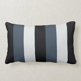 Blue Stripes Lumbar Pillow