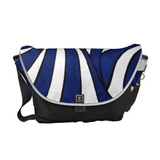 Blue Stripes – Medium Messenger Bag