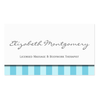 Blue Stripes Modern Appointment Business Card