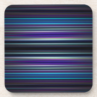 Blue stripes pattern beverage coasters