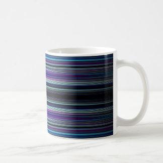 Blue stripes pattern coffee mug