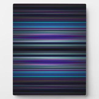 Blue stripes pattern plaque