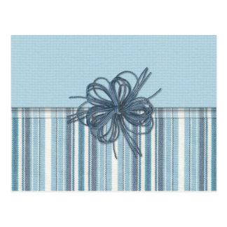 Blue Stripes Postcard
