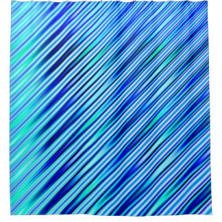 Blue Stripes Shower Curtain