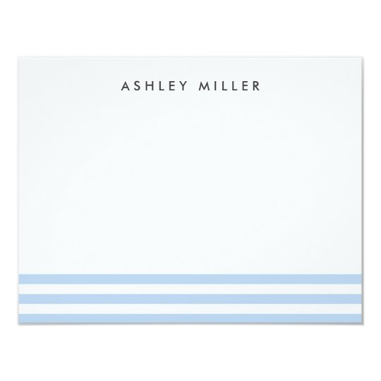 Blue Stripes Stationery Personalised Invite Card