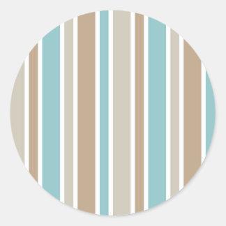 Blue Stripes Stickers