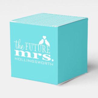 Blue Stripes The Future Mrs. Love Birds Favour Box