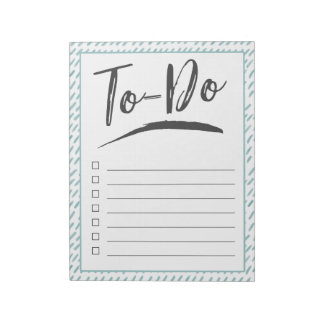 Blue Stripes To-Do Notepad