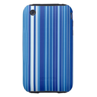 Blue Stripes Tough iPhone 3 Covers