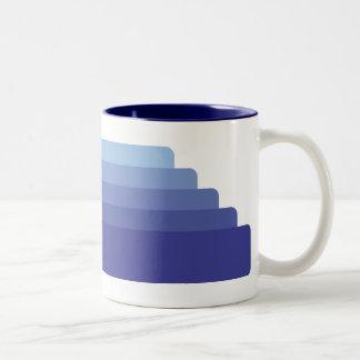 Blue Stripes Two-Tone Mug