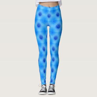 Blue stripy Leggings