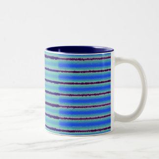 Blue Stripy Mug