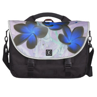 Blue Stylish Flower Bags For Laptop