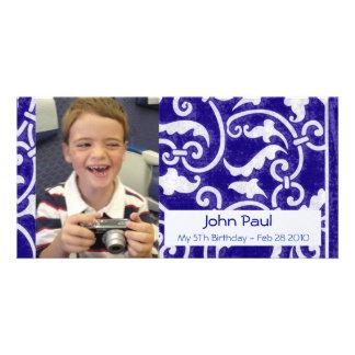Blue Stylish Photo Card