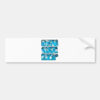 Blue stylish vintage Zombi  Design Hakuna Matata K Bumper Sticker