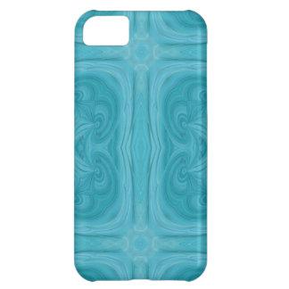Blue stylish wood pattern iPhone 5C case